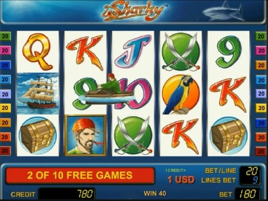 sharky free spins